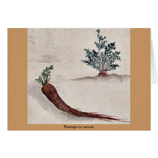 Parsnips or carrots greeting card