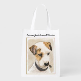 Parson Jack Russell Terrier Grocery Bag