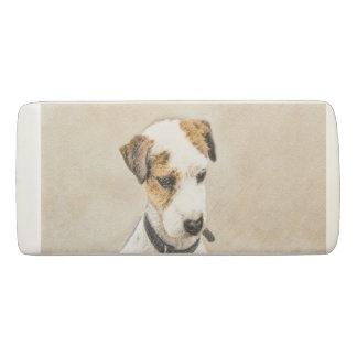 Parson Jack Russell Terrier Painting 2 Dog Art Eraser