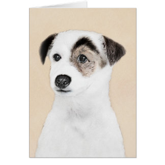 Parson Jack Russell Terrier Painting - Dog Art Card