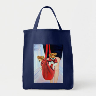 Parson Jack Russell Terrier Tee Shirt Tote Bag
