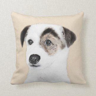 Parson Jack Russell Terrier Throw Pillow