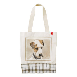 Parson Jack Russell Terrier Zazzle HEART Tote Bag