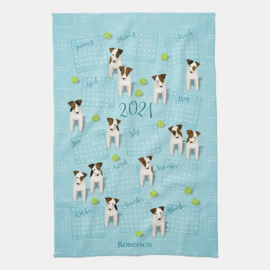 Parson Jack Russell Terriers 2021 calendar Kitchen Towel