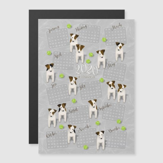 Parson Jack Russell Terriers gray 2020 calendar