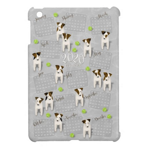 Parson Jack Russell Terriers gray 2020 calendar Case For The iPad Mini