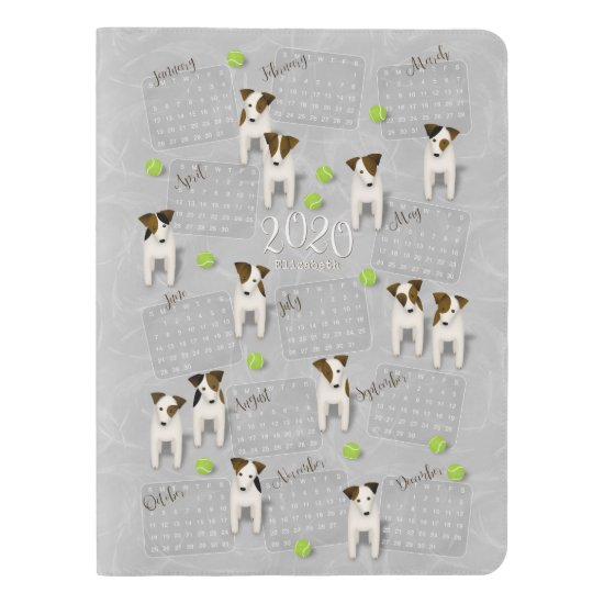 Parson Jack Russell Terriers gray 2020 calendar Extra Large Moleskine Notebook