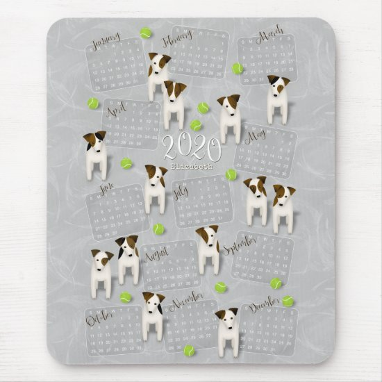 Parson Jack Russell Terriers gray 2020 calendar Mouse Pad