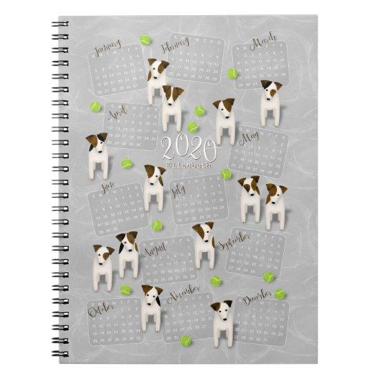 Parson Jack Russell Terriers gray 2020 calendar Notebook