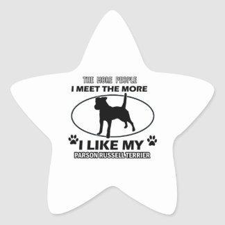 Parson Russel terrier designs and gifts Stickers