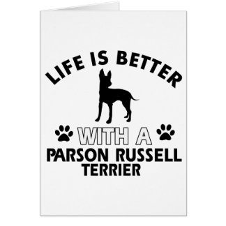 Parson Russel Terrier dog breed designs Greeting Card