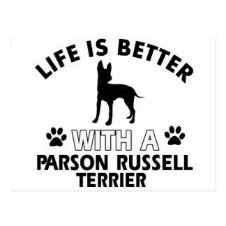 Parson Russel Terrier dog breed designs Postcard