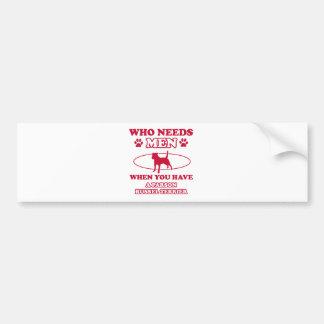 parson russel terrier mommy design bumper sticker