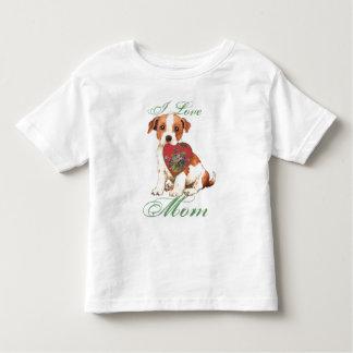 Parson Russell Heart Mom Toddler T-shirt