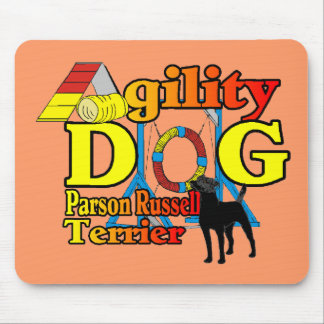 Parson_Russell_Terrier_Agility Mouse Pad
