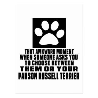 PARSON RUSSELL TERRIER  AWKWARD DESIGNS POSTCARD