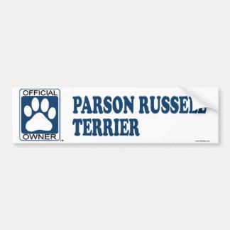 Parson Russell Terrier Blue Bumper Sticker