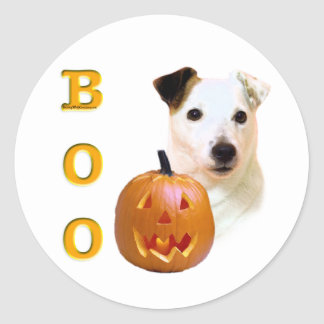Parson Russell Terrier Boo Classic Round Sticker