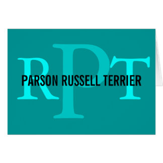 Parson Russell Terrier Breed Monogram Greeting Card