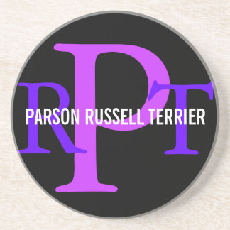 Parson Russell Terrier Breed Monogram Coaster