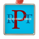 Parson Russell Terrier Breed Monogram Metal Ornament