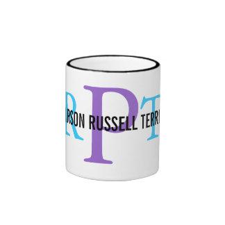 Parson Russell Terrier Breed Monogram Ringer Mug