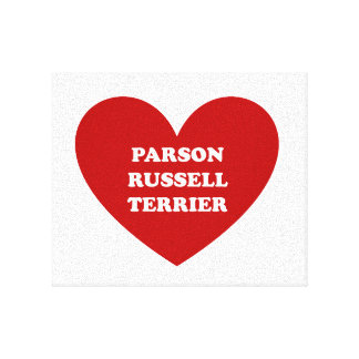Parson Russell Terrier Stretched Canvas Prints
