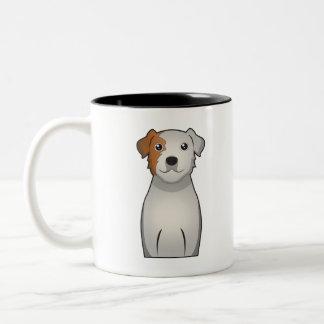 Parson Russell Terrier Cartoon Two-Tone Coffee Mug
