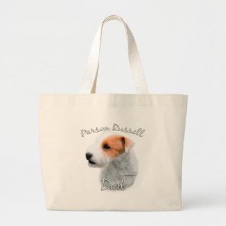 Parson Russell Terrier Dad 2 Large Tote Bag