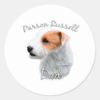 Parson Russell Terrier Dad 2 Round Stickers