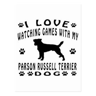 Parson Russell Terrier designs Postcard