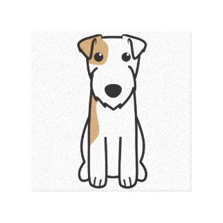 Parson Russell Terrier Dog Cartoon Canvas Print