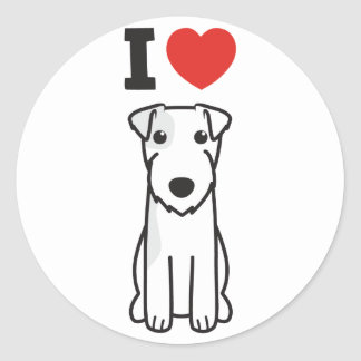 Parson Russell Terrier Dog Cartoon Classic Round Sticker