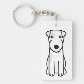 Parson Russell Terrier Dog Cartoon Keychain