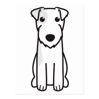 Parson Russell Terrier Dog Cartoon Postcard