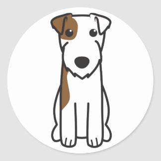 Parson Russell Terrier Dog Cartoon Sticker