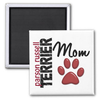 Parson Russell Terrier Mom 2 2 Inch Square Magnet