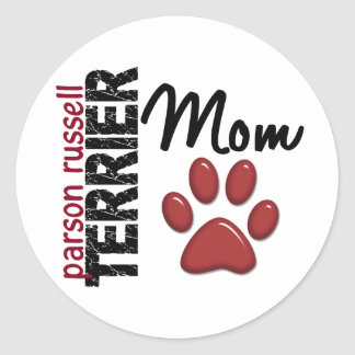 Parson Russell Terrier Mom 2 Classic Round Sticker