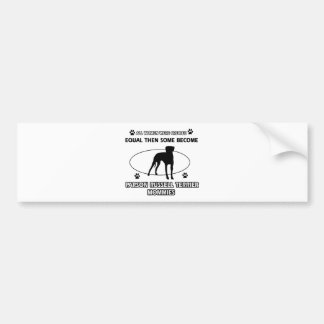 Parson Russell Terrier Mommy Designs Bumper Sticker