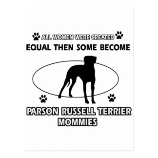 Parson Russell Terrier Mommy Designs Postcard