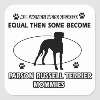 Parson Russell Terrier Mommy Designs Square Stickers