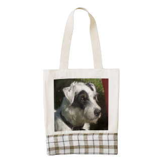 Parson_Russell_Terrier.png Zazzle HEART Tote Bag