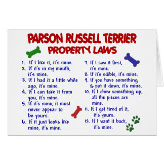 PARSON RUSSELL TERRIER Property Laws 2 Card