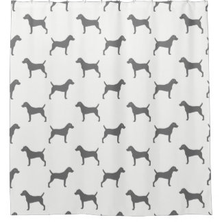 Parson Russell Terrier Silhouettes Pattern Shower Curtain