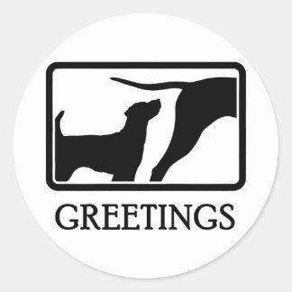 Parson Russell Terrier Round Sticker