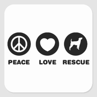 Parson Russell Terrier Square Sticker