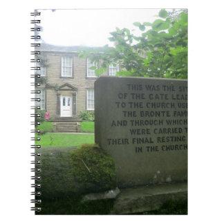 Parsonage de Bronte en Haworth Libros De Apuntes Con Espiral
