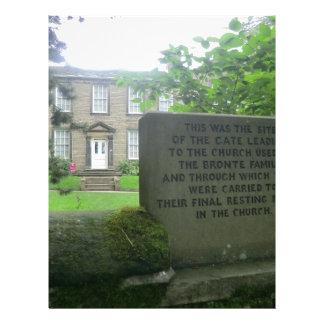 Parsonage de Bronte en Haworth Plantilla De Membrete