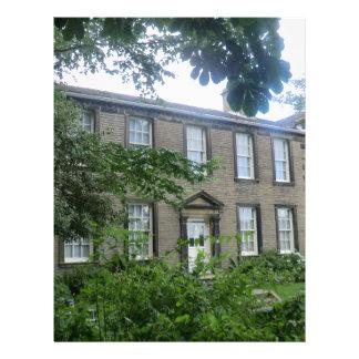 Parsonage de Bronte en Haworth, Yorkshire Plantillas De Membrete