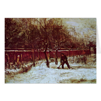 Parsonage Garden at Nuenen in the Snow by van Gogh Stationery Note Card